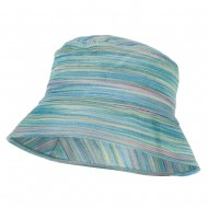 Woman's Multicolored Bucket Hat - Teal
