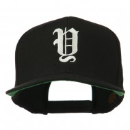 Old English Y Embroidered Cap - Black