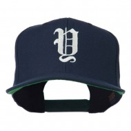 Old English Y Embroidered Cap - Navy