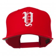 Old English Y Embroidered Cap - Red