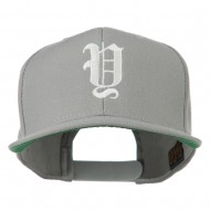 Old English Y Embroidered Cap - Silver