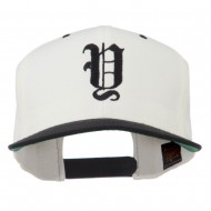 Old English Y Embroidered Cap - Natural Black
