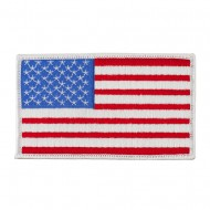 Assorted Patriotic Patches - White