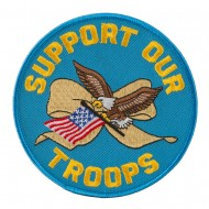 Assorted Patriotic Patches - Support Troops