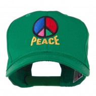 Peace Symbol Embroidered Cap - Kelly
