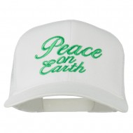 Peace on Earth Embroidered Twill Mesh Cap - White