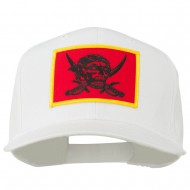 Pirates Skull and Choppers Patch Cap - White