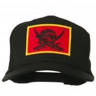 Pirates Skull and Choppers Patch Cap - Black