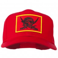 Pirates Skull and Choppers Patch Cap - Red