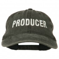 Producer Embroidered Washed Cap - Black