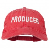 Producer Embroidered Washed Cap - Red