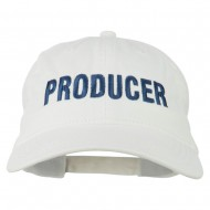 Producer Embroidered Washed Cap - White