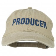 Producer Embroidered Washed Cap - Khaki