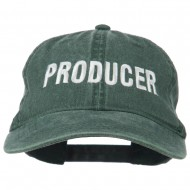 Producer Embroidered Washed Cap - Dk Green