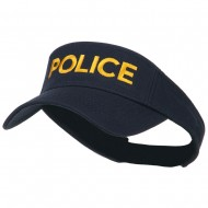 Police Embroidered Superior Garment Washed Visor - Navy
