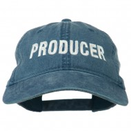 Producer Embroidered Washed Cap - Navy