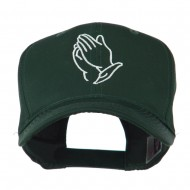 Praying Hands Embroidered Cap - Green