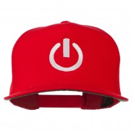 Power Icon Embroidered Snapback Cap - Red