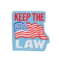 USA Keep the Law Commitment Patches - Sky Red