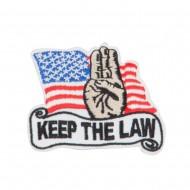 USA Keep the Law Commitment Patches - Red Black