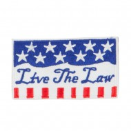 USA Keep the Law Commitment Patches - White Blue