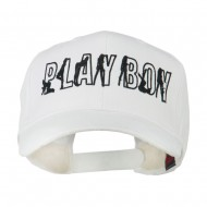 Playboy Embroidered Cap - White