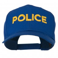 Police Letter Embroidered High Profile Cap - Royal