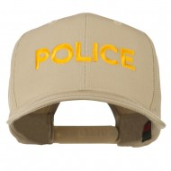 Police Letter Embroidered High Profile Cap - Khaki