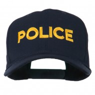 Police Letter Embroidered High Profile Cap - Navy