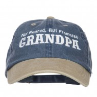 Not Retired Promoted Grandpa Embroidered Cap - Navy Khaki