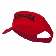 Pow Mia Embroidered Twill Sun Visor - Red