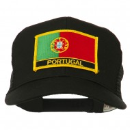 Portugal Country Patched Mesh Back Cap - Black
