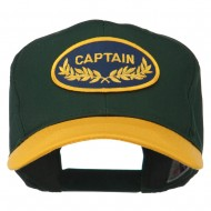 Captain Oak Leaf Military Patched Prostyle Cap - Gold Green
