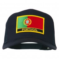 Portugal Country Patched Mesh Back Cap - Navy