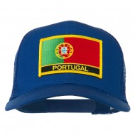Portugal Country Patched Mesh Back Cap - Royal