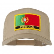 Portugal Country Patched Mesh Back Cap - Khaki