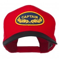 Captain Oak Leaf Military Patched Prostyle Cap - Black Red