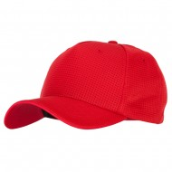 5 Panel Pro Style Deluxe Mesh Cap - Red