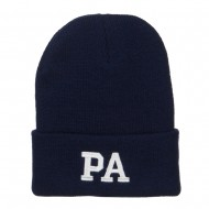 PA Pennsylvania State Embroidered Long Beanie - Navy