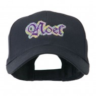 Christmas Plaid Noel Embroidered Cap - Navy