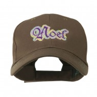 Christmas Plaid Noel Embroidered Cap - Brown
