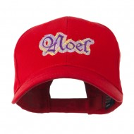 Christmas Plaid Noel Embroidered Cap - Red