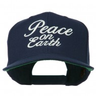 Peace on Earth Embroidered Snapback Cap - Navy