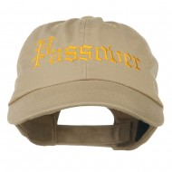 Passover Embroidered Washed Cap - Khaki