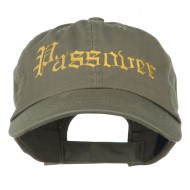 Passover Embroidered Washed Cap - Olive