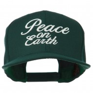 Peace on Earth Embroidered Snapback Cap - Spruce