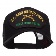 US Army Military Police Patched Mesh Cap - Black