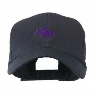 Polo Player Sports Embroidered Cap - Navy