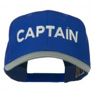 Captain Embroidered Cotton Twill Cap - Grey Royal