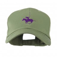 Polo Player Sports Embroidered Cap - Olive